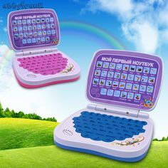 Russian language Alphabet Pronunciation learning machine Laptop mini Computer for all kid educational toys pink/bule,best gift - Kid Shop Global - Kids & Baby Shop Online - baby & kids clothing, toys for baby & kid