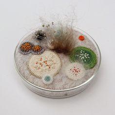 Mixed Media Organic #Crochet #Art by Elin Thomas