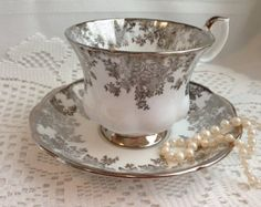 Royal Albert Teacup and Saucer Wild Roses Avon by PinkDahliaStudio