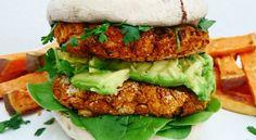 Curried Bean Burgers in Portabello Buns | Veganuary