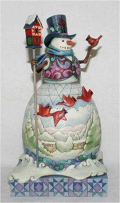 Jim Shore Heartwood Creek Winter on The Wing Cardinal Snowman Figurine 4015136 | eBay