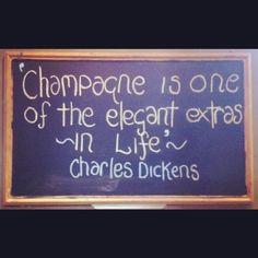 Quote on the Wine Cellar blackboard...