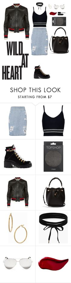 """The Wild Child"" by jessicaoftheoaks ❤ liked on Polyvore featuring IRO, Jonathan Simkhai, Gucci, Topshop, Sophia Webster, Bony Levy, Boohoo, Victoria Beckham, Kat Von D and Marc Jacobs"