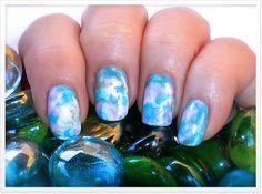 Gelibility Watercolor nail art