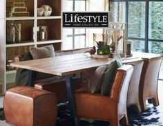 """Lifestyle94-Lifestyle Aspen Dining Chair With Arms Leather Brown 110374 <span style=""""font-size: 6pt;""""> armstoel-chaise-avec-accoudoirs-armchair-stuhl-mit-lehne </span>"""
