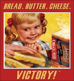 Vintage Grilled Cheese Art.