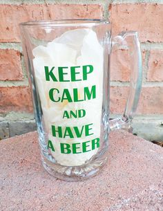 Custom Beer Mug- Keep Calm and Have a Beer Mug, Personalized Beer Mug, Party Favor, Groomsmen Gift, Wedding Party Gift by DashofFlair on Etsy https://www.etsy.com/listing/219494076/custom-beer-mug-keep-calm-and-have-a