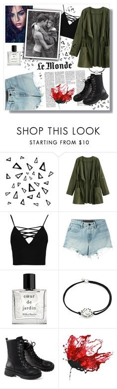 """""""Something bad"""" by toasumjas ❤ liked on Polyvore featuring Nika, Boohoo, T By Alexander Wang, Miller Harris and Alex and Ani"""