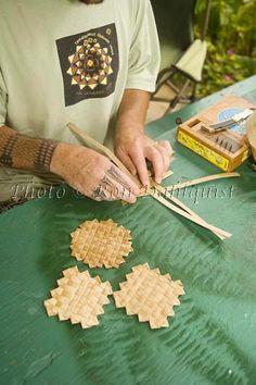Title:Lauhala weaving, Maui, Hawaii