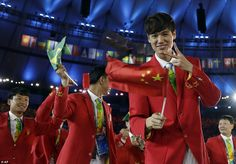 Team China at the Rio Olympics 2016 Opening Ceremony