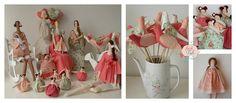 Festa Tilda Chá da Laura | Flickr - Photo Sharing! kits de bonecas Tilda para festas infantis e chás de bebê. Atelier Flor de Tule.
