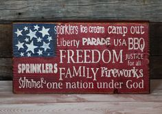 Large Block Sign - 4th of July - Subway Art. This would be easy to make using the silhouette.