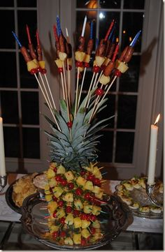 Pineapple centerpiece (for Friday night)
