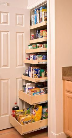 Awe-inspiring custom pantry cabinet #kitchen #kitchendesign #pantry #pantryorganization #closet