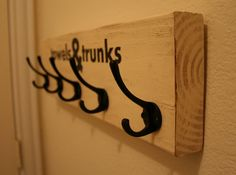for towels and trunks ... a hook board for swim towels and swim suits- For the hottub or pool