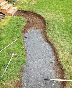 walkway made from recycled granite Backyard Walkway, Concrete Walkway, Front Walkway, Backyard Landscaping, Landscaping Design, Front Porch, Outdoor Kitchen Design, Outdoor Projects, Garden Paths