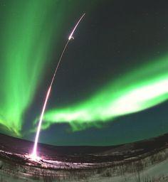 NASA Launches Rocket Into Northern Lights