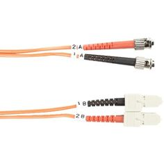 Fiber Patch Cable, Duplex, Multimode, OM2, 50/125, OFNR, ST-SC, 3 Meter -- Awesome products selected by Anna Churchill