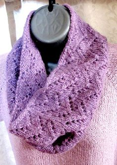 Free Knitting Pattern: Mountain Cowl from knittingpureandsimple.com