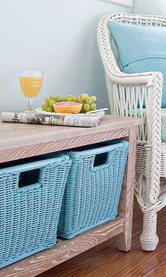 Color Splash with Maine Cottage Baskets for Coastal Style Living.