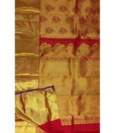 Red Pure Silk Handloom Kanjeevaram Zari Saree