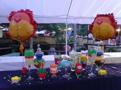 candy buffet at the zoo