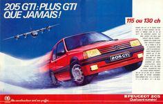 205 GTI 1.6 - 1986 - Publicité / Lancement de la nouvelle 205 GTI 130 Ch