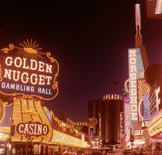 Downtown Las Vegas, April 1977.Jerry Lee Lewis plays the Fremont Hotel.