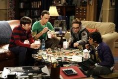 The board game that the guys are playing is Talisman: The Magical Quest Game, 4th Edition. It also appears in the previous episode, The Peanut Reaction. They make numerous mistakes while playing: having too many pieces, using the wrong counters, having face down cards strewn about the board and rolling two dice to move their piece.