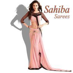 Gorgeous Sahiba Pink color Georgette Sarees