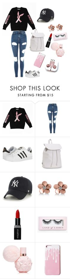 """One Love Manchester"" by wendyfashion ❤ liked on Polyvore featuring Topshop, adidas, Aéropostale, '47 Brand, Allurez, Smashbox, Boohoo and PhunkeeTree"