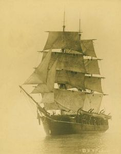 One of the oldest photos of whaling ship 'Charles W. Morgan' in 1912