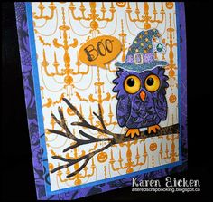Good morning friends! Today's share is the first (of three) Halloween cards I made for Karen Burniston's September Designer Challenge, wh...