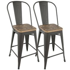 Versatile and stylish with an industrial feel, this Bar Stool will take your space from drab to fab! Use for everyday seating at your bar or as extra guest seating. Build to last, this Bar Stool are strong, yet lightweight, constructed from steel and wood.