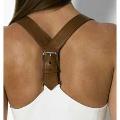 Ralph Lauren inspiration - a great idea for a belt recycle and a tshirt refashion