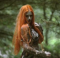 @ophelia_overdose & @agnieszkaosipa in my another version of this fantasy story #agnieszkalorek #gingerhair #dark #fightgirl #longhair #germanmodel #forest #ornaments #armature #atmosphere #passion