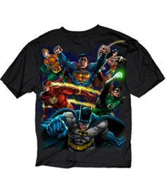 DC Comics Heroes Paint Batman Superman Men's Black T-shirt L