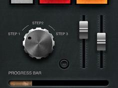 music UI knob & sliders dribbble