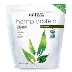 Nutiva's Organic Hemp Protein is Fortified with Fiber #healthy #packaging trendhunter.com