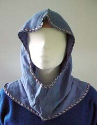 Anglo-Saxon hood veil. With picture of pattern.