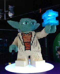 Yoda Lego -- Times Square Launch