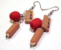 Back to School Dangle Earrings  Jewelry  by #SammysBeadworks, $20.00 #jetteam #jewelryonetsy
