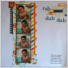 Rub A Dub Dub - Scrapbook.com