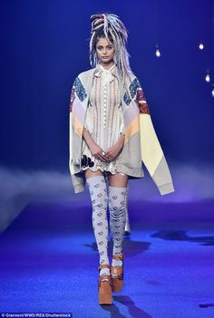 Grand finale! She finished out the week at the Marc Jacobs show today