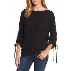 Women's Gibson Tie Sleeve Cozy Fleece Top - Polyvore - Made in USA!