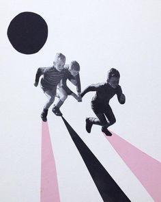 Collage retro par Nicola Kloosterman