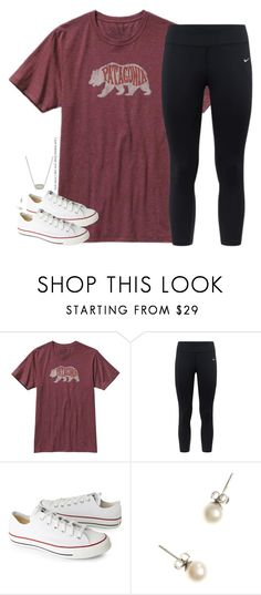 """Can you set my heavy dirty soul"" by southernstruttin ❤ liked on Polyvore featuring Patagonia, NIKE, Converse, J.Crew and Kendra Scott"