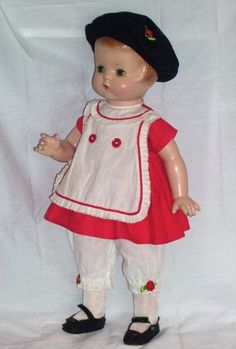 """Effanbee c1929 19"""" Composition Patsy Ann Doll in Vintage Outfit"""