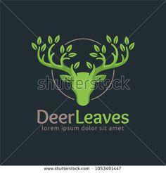 Deer Leaf logo template in vector format, easy to customize, Deer Leaves