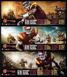 2011 Football Schedule Posters | NACMA Online Library